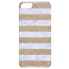 Stripes2white Marble & Sand Apple Iphone 5 Classic Hardshell Case by trendistuff