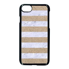 Stripes2white Marble & Sand Apple Iphone 7 Seamless Case (black) by trendistuff