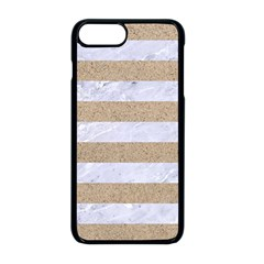 Stripes2white Marble & Sand Apple Iphone 8 Plus Seamless Case (black) by trendistuff