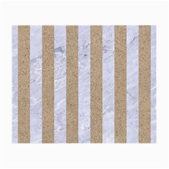 Stripes1 White Marble & Sand Small Glasses Cloth (2 Side) by trendistuff