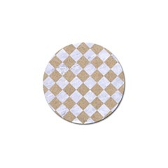 Square2 White Marble & Sand Golf Ball Marker (4 Pack) by trendistuff