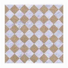 Square2 White Marble & Sand Medium Glasses Cloth (2 Side) by trendistuff