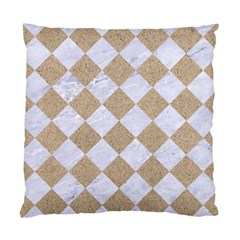 Square2 White Marble & Sand Standard Cushion Case (two Sides) by trendistuff