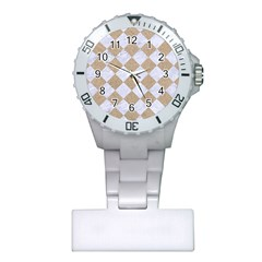 Square2 White Marble & Sand Plastic Nurses Watch by trendistuff