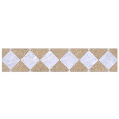 Square2 White Marble & Sand Small Flano Scarf by trendistuff