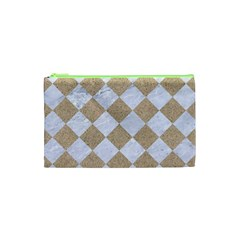 Square2 White Marble & Sand Cosmetic Bag (xs) by trendistuff