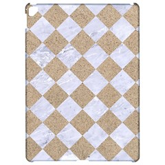 Square2 White Marble & Sand Apple Ipad Pro 12 9   Hardshell Case by trendistuff