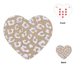 Skin5 White Marble & Sand (r) Playing Cards (heart)  by trendistuff