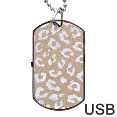 Skin5 White Marble & Sand (r) Dog Tag Usb Flash (one Side) by trendistuff
