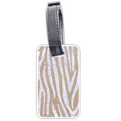 Skin4 White Marble & Sand (r) Luggage Tags (two Sides) by trendistuff