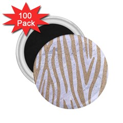 Skin4 White Marble & Sand 2 25  Magnets (100 Pack)  by trendistuff