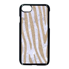 Skin4 White Marble & Sand Apple Iphone 8 Seamless Case (black) by trendistuff