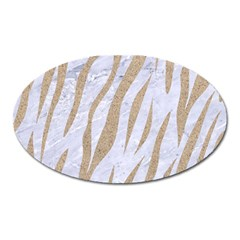 Skin3 White Marble & Sand (r) Oval Magnet by trendistuff