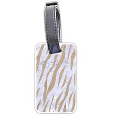 Skin3 White Marble & Sand (r) Luggage Tags (one Side)  by trendistuff