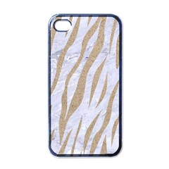 Skin3 White Marble & Sand (r) Apple Iphone 4 Case (black) by trendistuff