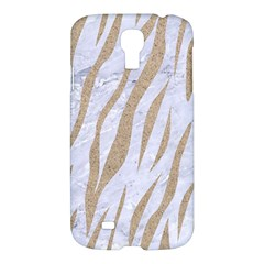 Skin3 White Marble & Sand (r) Samsung Galaxy S4 I9500/i9505 Hardshell Case by trendistuff