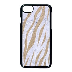 Skin3 White Marble & Sand (r) Apple Iphone 8 Seamless Case (black) by trendistuff