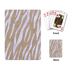 Skin3 White Marble & Sand Playing Card by trendistuff