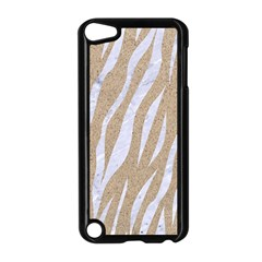 Skin3 White Marble & Sand Apple Ipod Touch 5 Case (black) by trendistuff