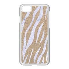 Skin3 White Marble & Sand Apple Iphone 7 Seamless Case (white) by trendistuff