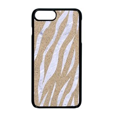 Skin3 White Marble & Sand Apple Iphone 8 Plus Seamless Case (black) by trendistuff