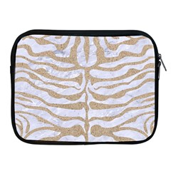Skin2 White Marble & Sand (r) Apple Ipad 2/3/4 Zipper Cases by trendistuff