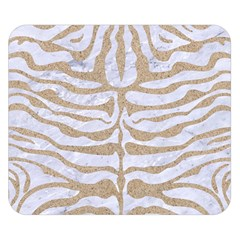 Skin2 White Marble & Sand (r) Double Sided Flano Blanket (small)  by trendistuff