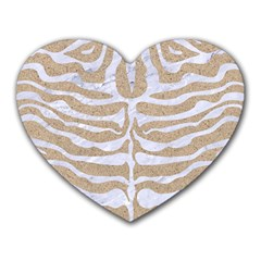 Skin2 White Marble & Sand Heart Mousepads by trendistuff