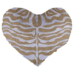 Skin2 White Marble & Sand Large 19  Premium Heart Shape Cushions by trendistuff