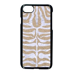 Skin2 White Marble & Sand Apple Iphone 7 Seamless Case (black) by trendistuff