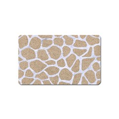 Skin1 White Marble & Sand (r) Magnet (name Card) by trendistuff