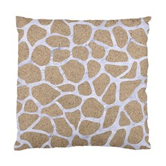 Skin1 White Marble & Sand (r) Standard Cushion Case (two Sides) by trendistuff
