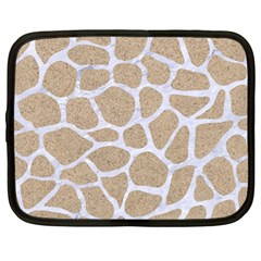 Skin1 White Marble & Sand (r) Netbook Case (xl)