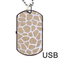 Skin1 White Marble & Sand (r) Dog Tag Usb Flash (one Side) by trendistuff