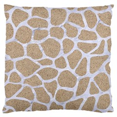 Skin1 White Marble & Sand (r) Large Cushion Case (one Side) by trendistuff