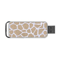 Skin1 White Marble & Sand (r) Portable Usb Flash (two Sides) by trendistuff