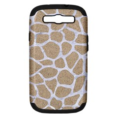 Skin1 White Marble & Sand (r) Samsung Galaxy S Iii Hardshell Case (pc+silicone) by trendistuff