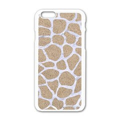 Skin1 White Marble & Sand (r) Apple Iphone 6/6s White Enamel Case by trendistuff