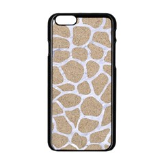 Skin1 White Marble & Sand (r) Apple Iphone 6/6s Black Enamel Case by trendistuff