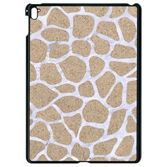 Skin1 White Marble & Sand (r) Apple Ipad Pro 9 7   Black Seamless Case by trendistuff