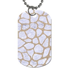 Skin1 White Marble & Sand Dog Tag (one Side) by trendistuff