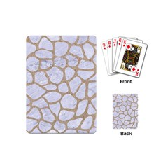 Skin1 White Marble & Sand Playing Cards (mini)  by trendistuff