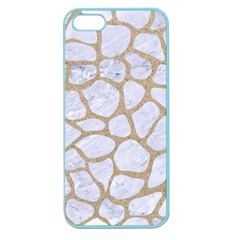 Skin1 White Marble & Sand Apple Seamless Iphone 5 Case (color)