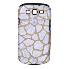 Skin1 White Marble & Sand Samsung Galaxy S Iii Classic Hardshell Case (pc+silicone) by trendistuff