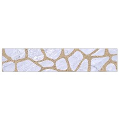 Skin1 White Marble & Sand Small Flano Scarf by trendistuff