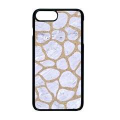 Skin1 White Marble & Sand Apple Iphone 7 Plus Seamless Case (black) by trendistuff