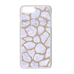 Skin1 White Marble & Sand Apple Iphone 7 Plus Seamless Case (white) by trendistuff