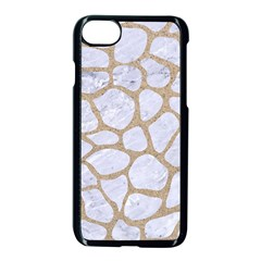 Skin1 White Marble & Sand Apple Iphone 7 Seamless Case (black)