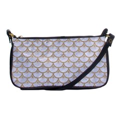 Scales3 White Marble & Sand (r) Shoulder Clutch Bags by trendistuff