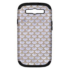 Scales3 White Marble & Sand (r) Samsung Galaxy S Iii Hardshell Case (pc+silicone) by trendistuff